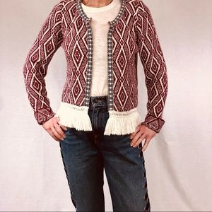 Italian Boho Soft Jacket With Fringes